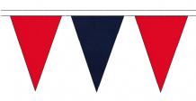 RED AND NAVY BLUE TRIANGULAR BUNTING - 10m / 20m / 50m LENGTHS